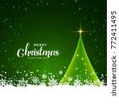 green christmas card design... | Shutterstock .eps vector #772411495