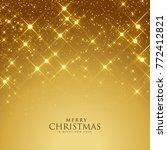 beautiful golden sparkles...   Shutterstock .eps vector #772412821
