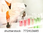 scientists are experimenting...   Shutterstock . vector #772413685