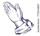 praying hands to god  symbol of ... | Shutterstock .eps vector #772414867