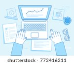 vector business illustration in ... | Shutterstock .eps vector #772416211