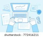 vector business illustration in ... | Shutterstock .eps vector #772416211