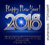 vector happy new year 2018... | Shutterstock .eps vector #772416649