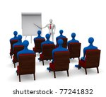 group of students and teacher... | Shutterstock . vector #77241832