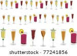 illustration with several cups... | Shutterstock . vector #77241856