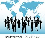 group of busy global business... | Shutterstock .eps vector #77242132
