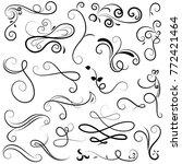 vector illustration set of... | Shutterstock .eps vector #772421464