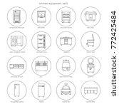 kitchen equipment for... | Shutterstock .eps vector #772425484