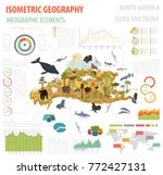 isometric 3d north america... | Shutterstock .eps vector #772427131
