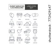 event services line icons | Shutterstock .eps vector #772429147