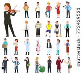 many simple characters of... | Shutterstock .eps vector #772429531