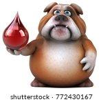 fun bulldog   3d illustration | Shutterstock . vector #772430167