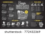 vintage chalk drawing burger... | Shutterstock .eps vector #772432369
