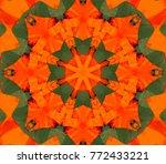 abstract illustration crimson... | Shutterstock . vector #772433221