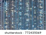 high rise residential building... | Shutterstock . vector #772435069