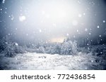 christmas and new year... | Shutterstock . vector #772436854
