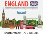 journey to england banner... | Shutterstock .eps vector #772438201