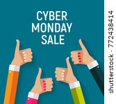 cyber monday background sale... | Shutterstock . vector #772438414