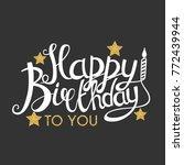 color glossy happy birthday... | Shutterstock . vector #772439944