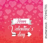 happy valentines day card... | Shutterstock .eps vector #772442701