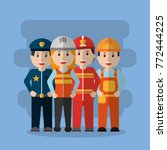 group workers people differents ... | Shutterstock .eps vector #772444225