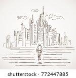 road to future cities  vector... | Shutterstock .eps vector #772447885