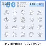 modern linear pictogram of... | Shutterstock .eps vector #772449799