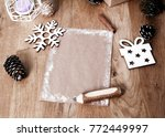 christmas blank greeting card... | Shutterstock . vector #772449997