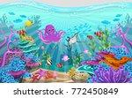 marine habitats and the beauty...   Shutterstock .eps vector #772450849