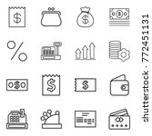 thin line icon set   receipt ...   Shutterstock .eps vector #772451131