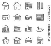 thin line icon set   home ... | Shutterstock .eps vector #772451224