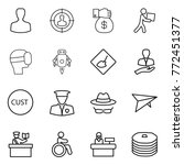 thin line icon set   man ... | Shutterstock .eps vector #772451377