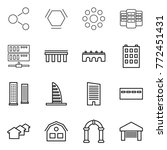 thin line icon set   molecule ...   Shutterstock .eps vector #772451431