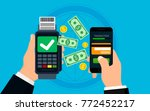 mobile payment concept and... | Shutterstock .eps vector #772452217