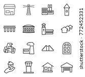thin line icon set   shop ... | Shutterstock .eps vector #772452331