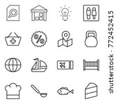 thin line icon set   search... | Shutterstock .eps vector #772452415