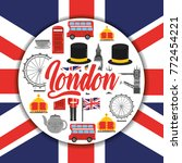 london england toruism travel... | Shutterstock .eps vector #772454221