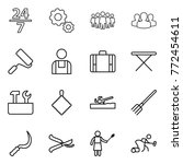 thin line icon set   24 7  gear ... | Shutterstock .eps vector #772454611