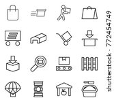 thin line icon set   shopping... | Shutterstock .eps vector #772454749