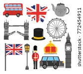 london england toruism travel... | Shutterstock .eps vector #772454911