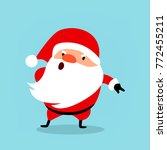 funny santa claus gets angry ... | Shutterstock .eps vector #772455211