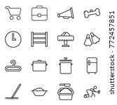 thin line icon set   cart ...   Shutterstock .eps vector #772457851