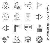 thin line icon set   pointer ... | Shutterstock .eps vector #772457947