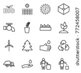 thin line icon set   bio  sun... | Shutterstock .eps vector #772458007
