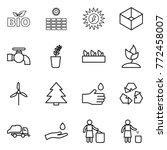 thin line icon set   bio  sun... | Shutterstock .eps vector #772458007