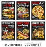 fast food restaurant menu promo ... | Shutterstock .eps vector #772458457