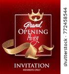 grand opening red card with... | Shutterstock .eps vector #772458544