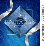 elegant invitation blue card... | Shutterstock .eps vector #772458577