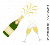 two champagne glasses with...   Shutterstock .eps vector #772460245