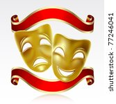 theatrical mask with a red... | Shutterstock .eps vector #77246041
